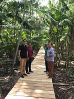 Câmara Visita obra de reconstrução da Ponte do Furo Madre-de-Deus