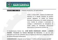 PORTARIA – 002 / 2021 – CÂMARA MUNICIPAL DE BARCARENA.