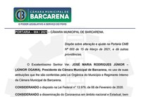 PORTARIA – 004 / 2021 – CÂMARA MUNICIPAL DE BARCARENA