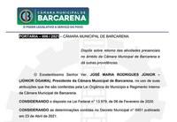 PORTARIA – 006 / 2021 – CÂMARA MUNICIPAL DE BARCARENA.