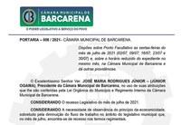 PORTARIA – 008 / 2021– CÂMARA MUNICIPAL DE BARCARENA