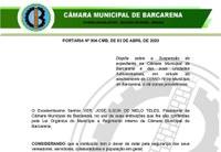 PORTARIA Nº 004-CMB, DE 03 DE ABRIL DE 2020