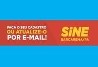 Sine Barcarena faça seu cadastro por e-mail