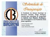 Solenidade de Inauguração Galeria José Pinheiro Rodrigues