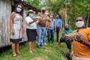 Vereadores fazem visita em propriedades produtoras de peixes em cativeiro na Comunidade Guajará da Costa.